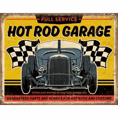 Hot Rod Garage - '32 Rod Tin Signs