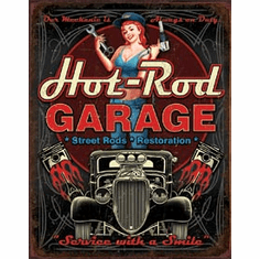Hot Rod Garage - Pistons Tin Signs