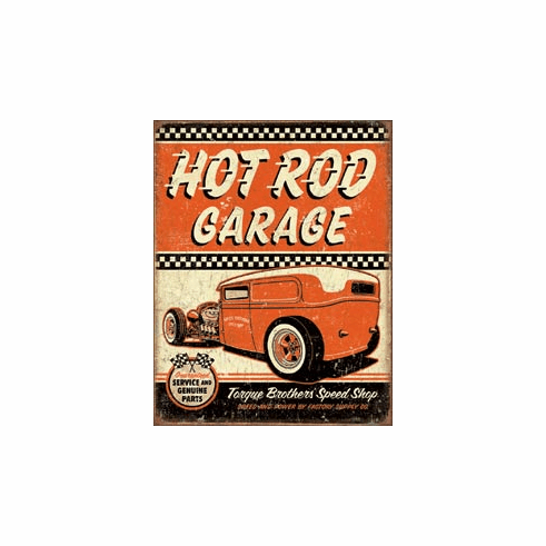 Hot Rod Garage - Rat Rod Tin Signs
