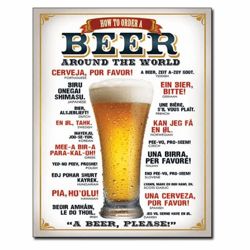 How to Order a Beer Tin Signs