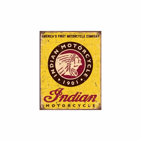 Indian Motorcycles Since Tin Signs