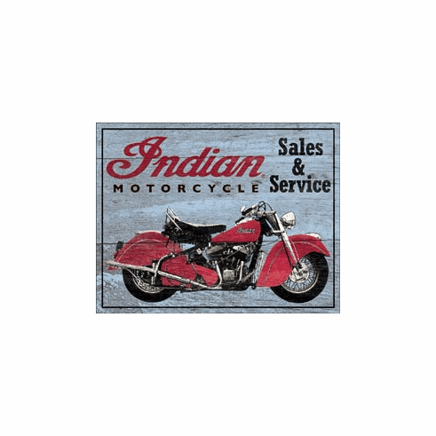 Indian Parts and Service Tin Signs