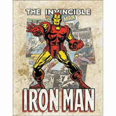 Iron Man - Cover Splash Tin Signs
