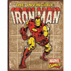 Iron Man - Retro Panels Tin Signs
