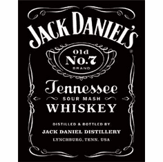 Jack Daniel's Black Logo Tin Signs