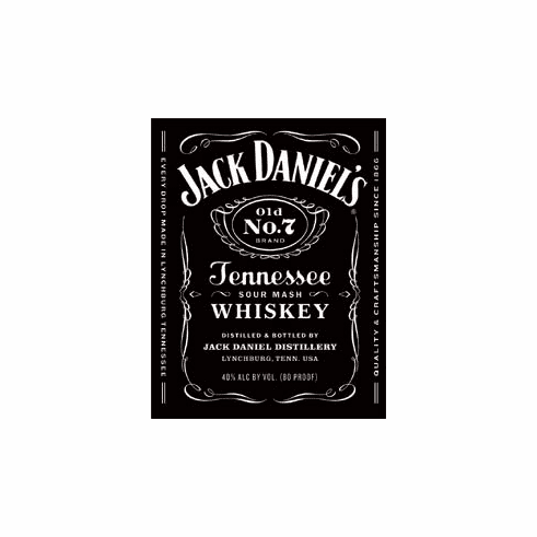 Jack Daniels - Bottle Label Tin Signs