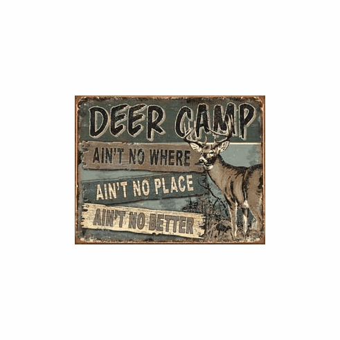 JQ - Deer Camp Tin Signs