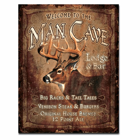 JQ - Man Cave Lodge Tin Signs