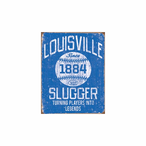 Louisville Slugger - Blue Tin Signs