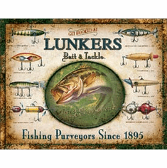 Lunker's Lures Tin Signs