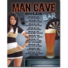 Man Cave - Rules Tin Signs