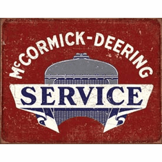 McCormick Deering Service Tin Signs