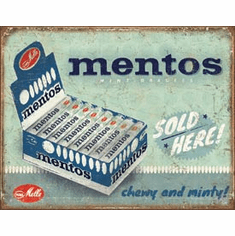 Mentos - Sold Here Tin Signs