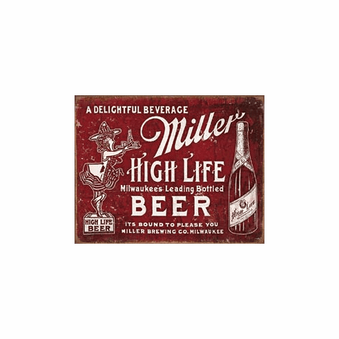 Miller - Bound to Please Tin Signs