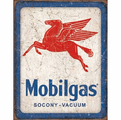 Mobilgas Pegasus Tin Signs