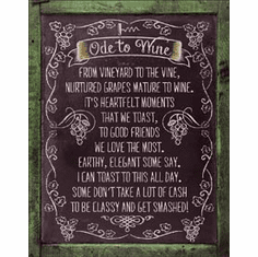 Ode to Wine Tin Signs