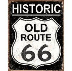 Old Route 66 - Weathered Tin Signs