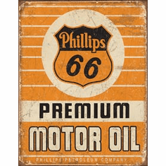 Phillips 66 Premium Oil Tin Signs