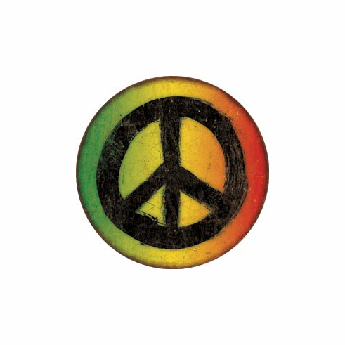 Rasta Peace Sign Tin Signs