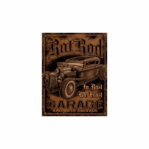 Rat Rod Garage Tin Signs