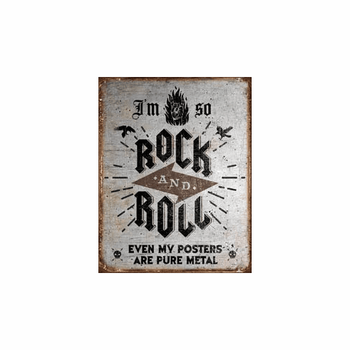 Rock n Roll Posters Tin Signs