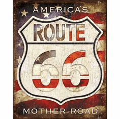 Rt. 66 - America's Road Tin Signs