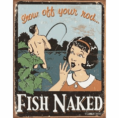 Schonberg - Fish Naked Tin Signs