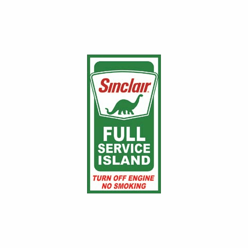 Sinclair Service Island Tin Signs