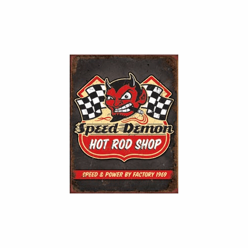 Speed Demon Hot Rods Tin Signs