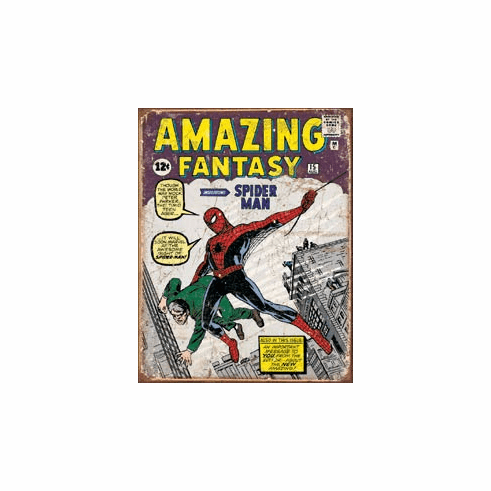 Spider Man Comic Cover Tin Signs