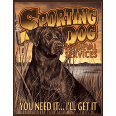 Sporting Dog Services Tin Signs