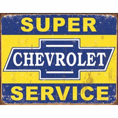 Super Chevy Service Tin Signs