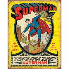 Superman No1 Cover Tin Signs