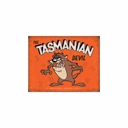 Tasmanian Devil Tin Signs