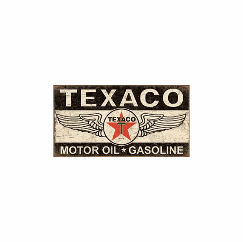 Texaco Winged Logo Tin Signs