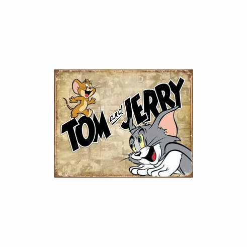 Tom & Jerry Retro Panels Tin Signs