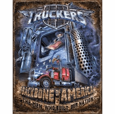 Truckers - Backbone Tin Signs