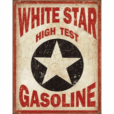 White Star Gasoline Tin Signs