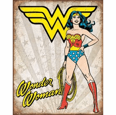 Wonder Woman Heroic Tin Signs