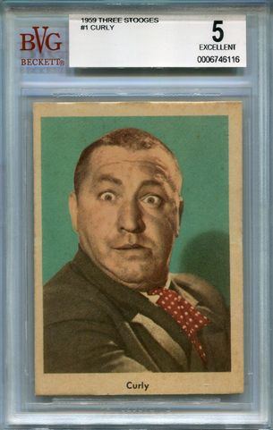1959 The 3 Stooges - Curly #1 BGS 5 EX