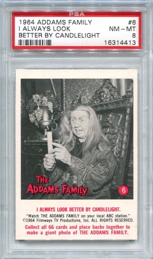 1964 Addams Family - I Always Look Better By Candlelight #6 PSA 8 (4413)