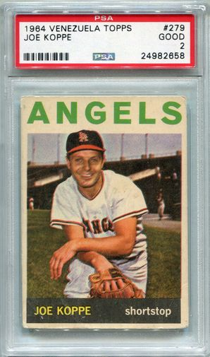 1964 Venezuela Topps Joe Koppe #279 PSA 2 GOOD