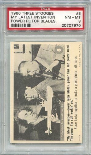 1966 Three Stooges - My Latest Invention Power Rotor Blades #8 PSA 8