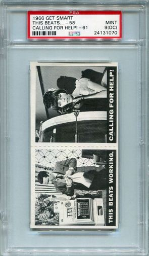 1966 Get Smart Panel - This Beats Working #58 & Calling For Help #61 PSA 9 (OC)