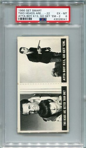 1966 Get Smart Panel - Two Heads Are #22 & Atta Boy k13 #24 PSA 6