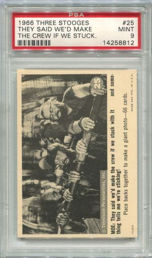 1966 Three Stooges - They Said We'd Make The Crew If We Stuck #25 PSA 9