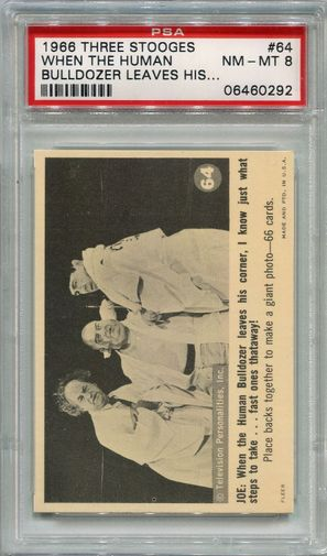 1966 Three Stooges - When The Human Bulldozer Leaves #64 PSA 8