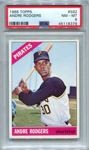 1966 Topps Andre Rodgers #592 PSA 8