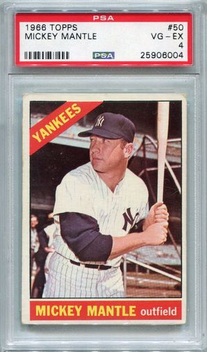 1966 Topps Mickey Mantle #50 PSA 4 VG-EX