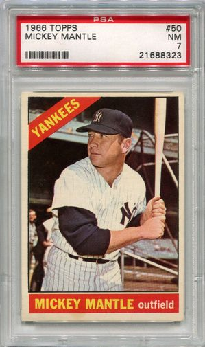 1966 Topps Mickey Mantle #50 PSA 7 NM